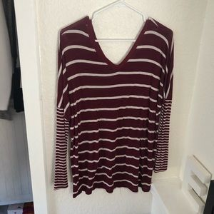 Charlotte Russe long sleeve stripe tee